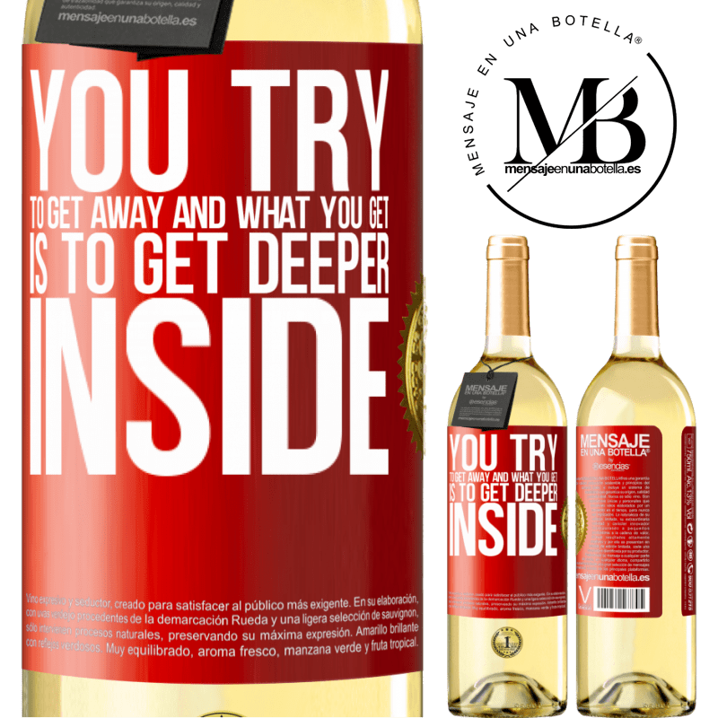 24,95 € Free Shipping | White Wine WHITE Edition You try to get away and what you get is to get deeper inside Red Label. Customizable label Young wine Harvest 2020 Verdejo