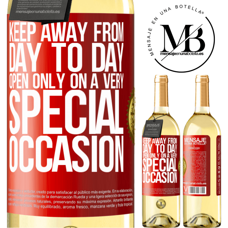 24,95 € Free Shipping | White Wine WHITE Edition Keep away from day to day. Open only on a very special occasion Red Label. Customizable label Young wine Harvest 2020 Verdejo