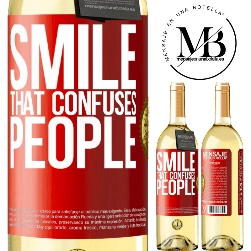 24,95 € Free Shipping | White Wine WHITE Edition Smile, that confuses people Red Label. Customizable label Young wine Harvest 2020 Verdejo