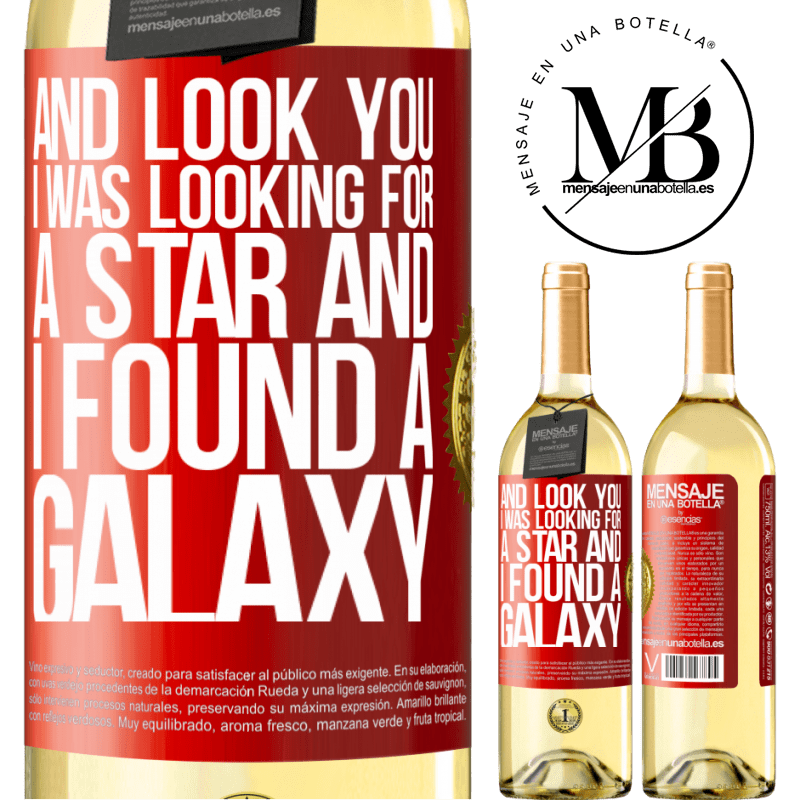 24,95 € Free Shipping | White Wine WHITE Edition And look you, I was looking for a star and I found a galaxy Red Label. Customizable label Young wine Harvest 2020 Verdejo