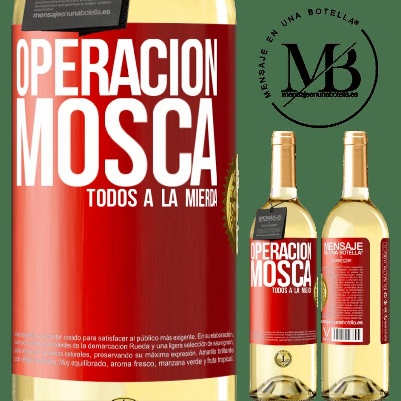 24,95 € Envoi gratuit   Vin blanc Édition WHITE Opération voler ... tout baiser Étiquette Rouge. Étiquette personnalisable Vin jeune Récolte 2020 Verdejo