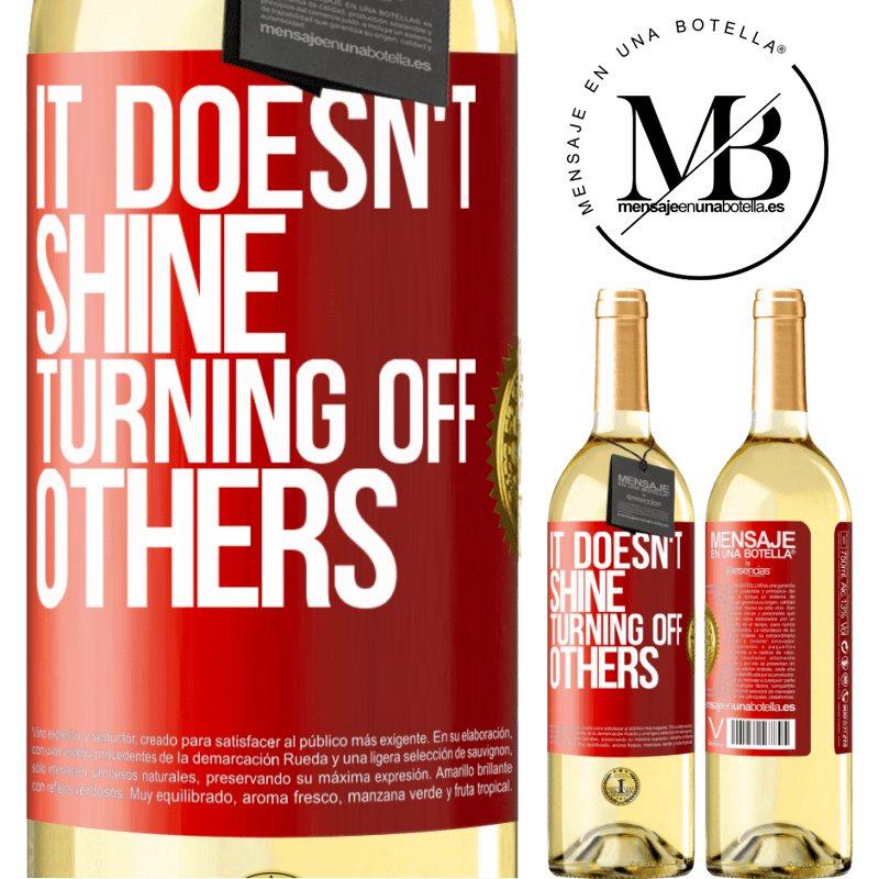 24,95 € Free Shipping   White Wine WHITE Edition It doesn't shine turning off others Red Label. Customizable label Young wine Harvest 2020 Verdejo