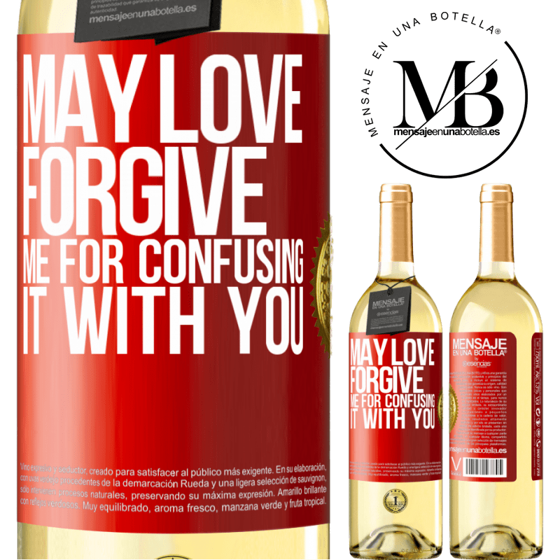 24,95 € Free Shipping | White Wine WHITE Edition May love forgive me for confusing it with you Red Label. Customizable label Young wine Harvest 2020 Verdejo