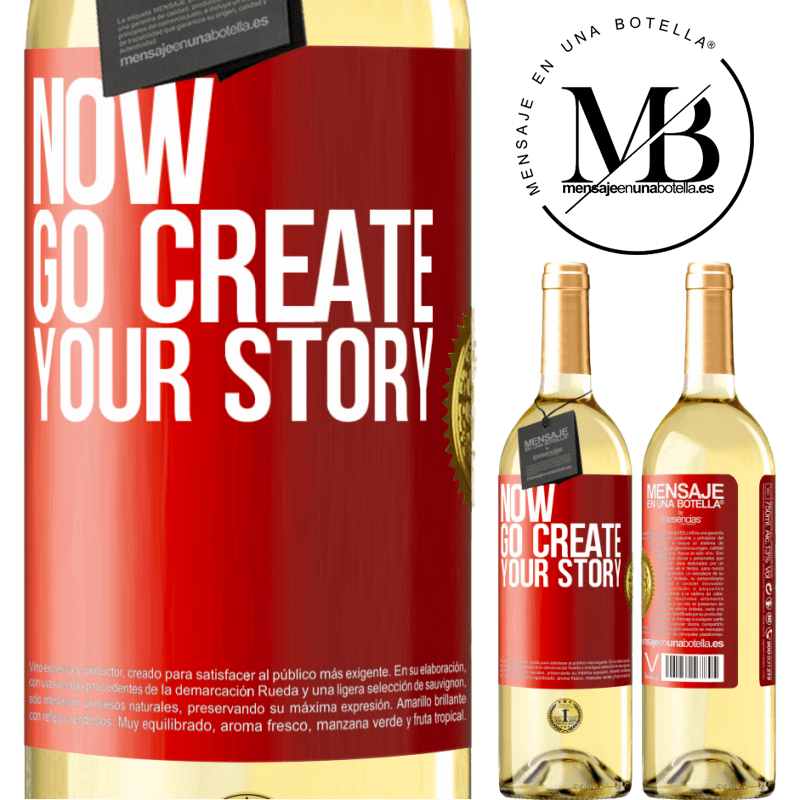 24,95 € Free Shipping   White Wine WHITE Edition Now, go create your story Red Label. Customizable label Young wine Harvest 2020 Verdejo