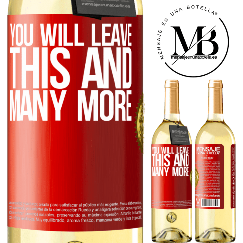 24,95 € Free Shipping   White Wine WHITE Edition You will leave this and many more Red Label. Customizable label Young wine Harvest 2020 Verdejo
