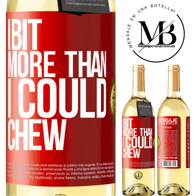 24,95 € Free Shipping | White Wine WHITE Edition I bit more than I could chew Red Label. Customizable label Young wine Harvest 2020 Verdejo
