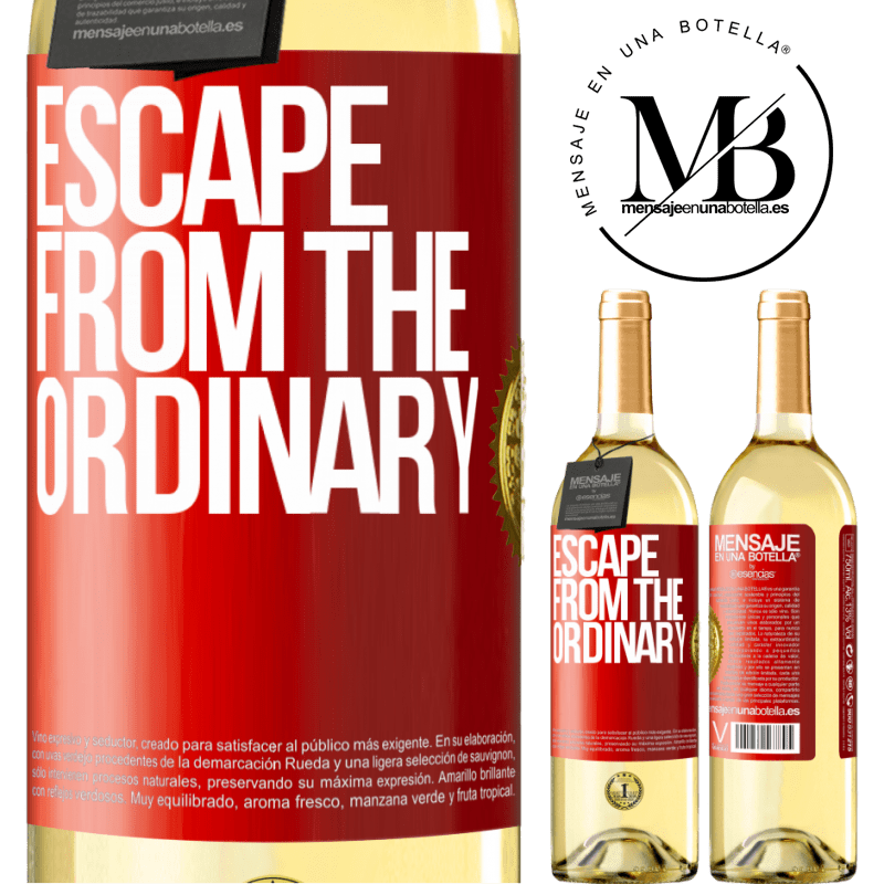24,95 € Free Shipping | White Wine WHITE Edition Escape from the ordinary Red Label. Customizable label Young wine Harvest 2020 Verdejo