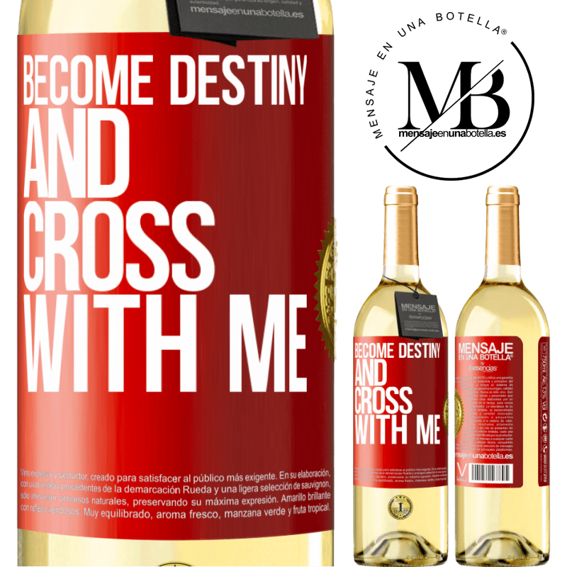 24,95 € Free Shipping | White Wine WHITE Edition Become destiny and cross with me Red Label. Customizable label Young wine Harvest 2020 Verdejo