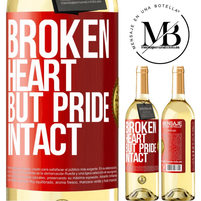24,95 € Free Shipping   White Wine WHITE Edition The broken heart But pride intact Red Label. Customizable label Young wine Harvest 2020 Verdejo
