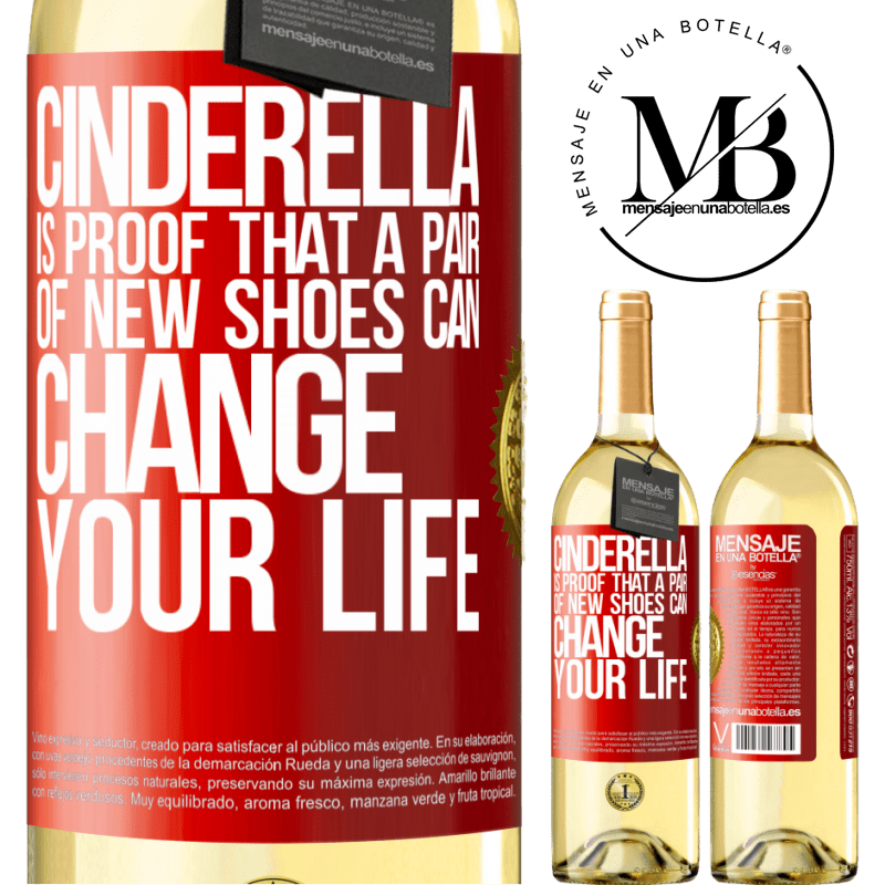 24,95 € Free Shipping | White Wine WHITE Edition Cinderella is proof that a pair of new shoes can change your life Red Label. Customizable label Young wine Harvest 2020 Verdejo