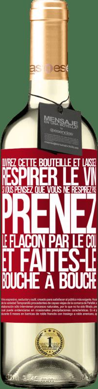 24,95 € Envoi gratuit   Vin blanc Édition WHITE Ouvrez cette bouteille et laissez respirer le vin. Si vous pensez que vous ne respirez pas, prenez le flacon par le cou et Étiquette Rouge. Étiquette personnalisable Vin jeune Récolte 2020 Verdejo