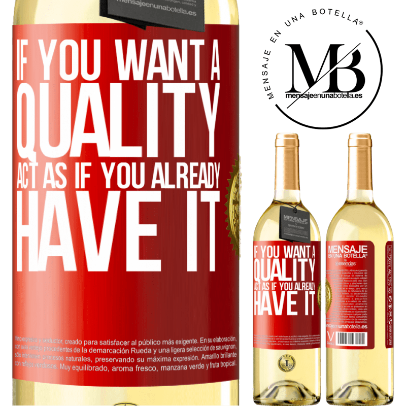 24,95 € Free Shipping   White Wine WHITE Edition If you want a quality, act as if you already had it Red Label. Customizable label Young wine Harvest 2020 Verdejo