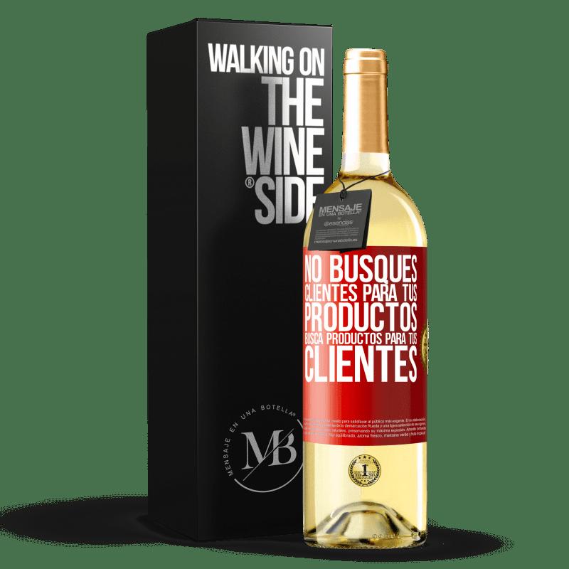 24,95 € Envoi gratuit | Vin blanc Édition WHITE Ne cherchez pas de clients pour vos produits, recherchez des produits pour vos clients Étiquette Rouge. Étiquette personnalisable Vin jeune Récolte 2020 Verdejo