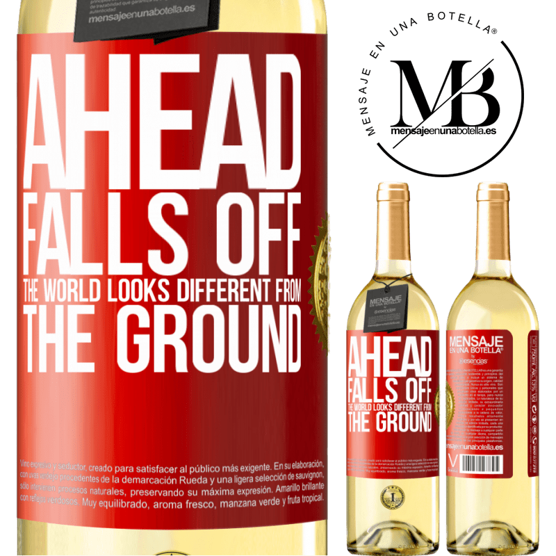 24,95 € Free Shipping | White Wine WHITE Edition Ahead. Falls off. The world looks different from the ground Red Label. Customizable label Young wine Harvest 2020 Verdejo