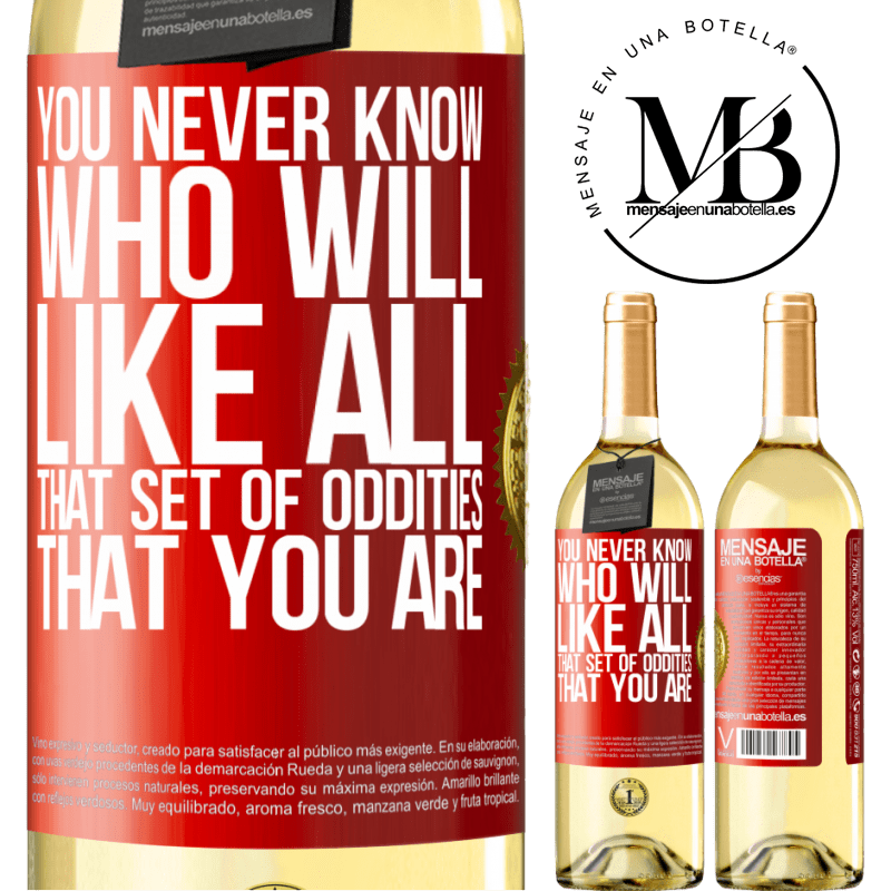 24,95 € Free Shipping   White Wine WHITE Edition You never know who will like all that set of oddities that you are Red Label. Customizable label Young wine Harvest 2020 Verdejo