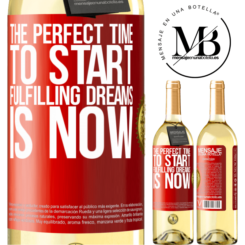 24,95 € Free Shipping | White Wine WHITE Edition The perfect time to start fulfilling dreams is now Red Label. Customizable label Young wine Harvest 2020 Verdejo