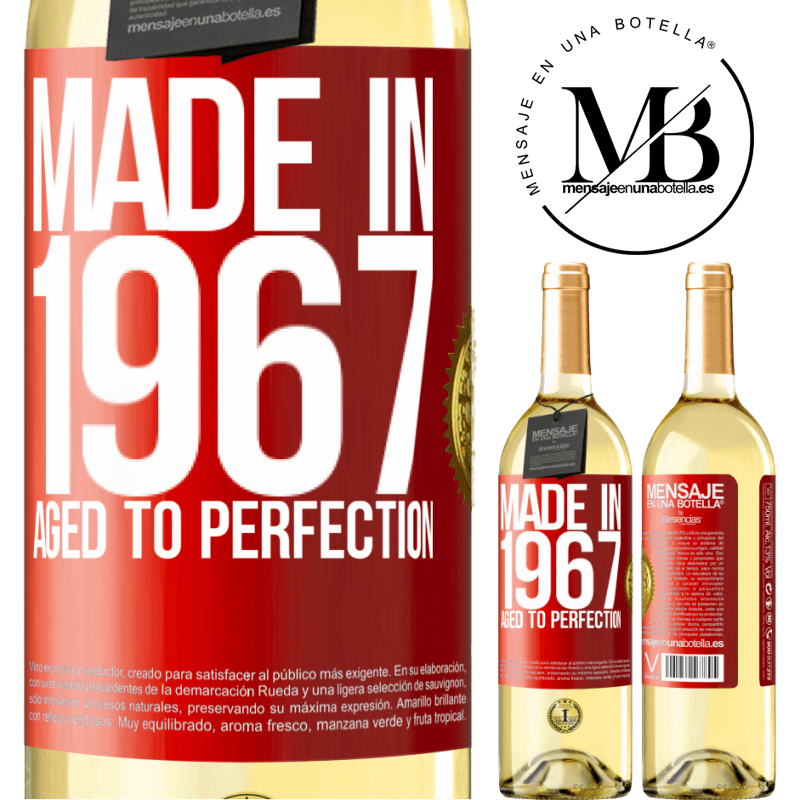 24,95 € Free Shipping | White Wine WHITE Edition Made in 1967. Aged to perfection Red Label. Customizable label Young wine Harvest 2020 Verdejo