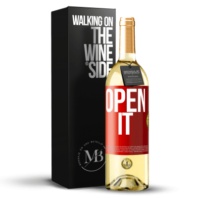 «Open it» WHITE Edition