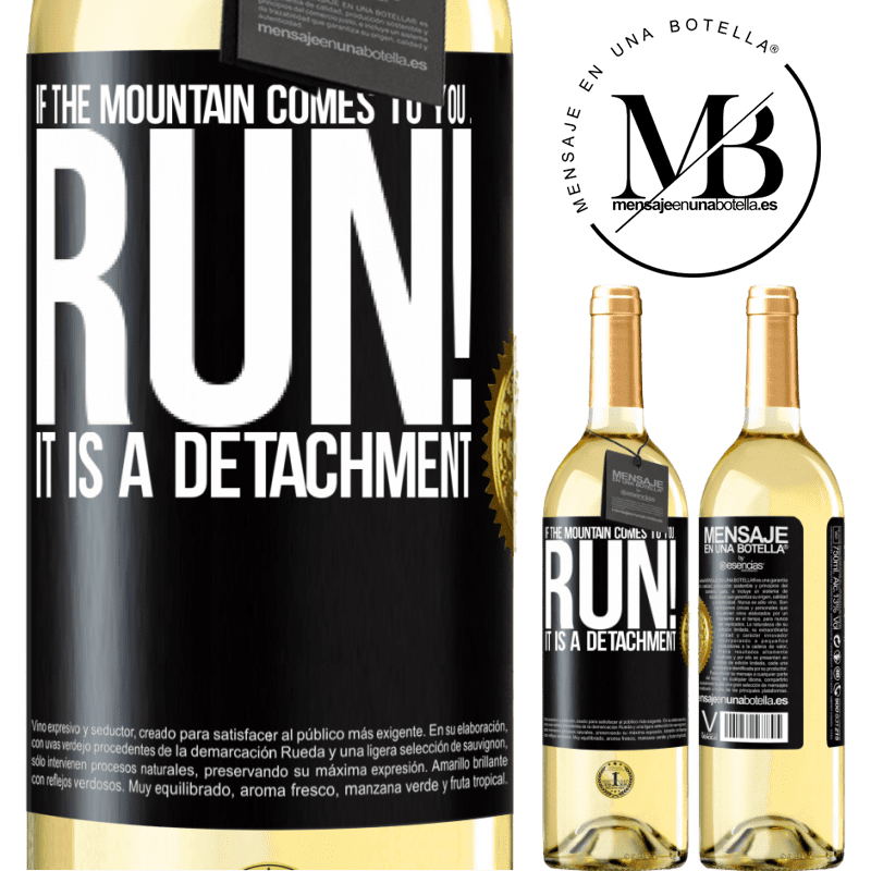 24,95 € Free Shipping   White Wine WHITE Edition If the mountain comes to you ... Run! It is a detachment Black Label. Customizable label Young wine Harvest 2020 Verdejo