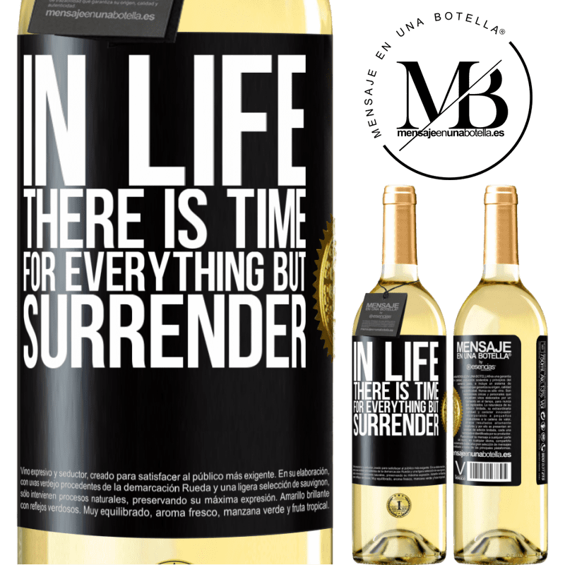 24,95 € Free Shipping   White Wine WHITE Edition In life there is time for everything but surrender Black Label. Customizable label Young wine Harvest 2020 Verdejo