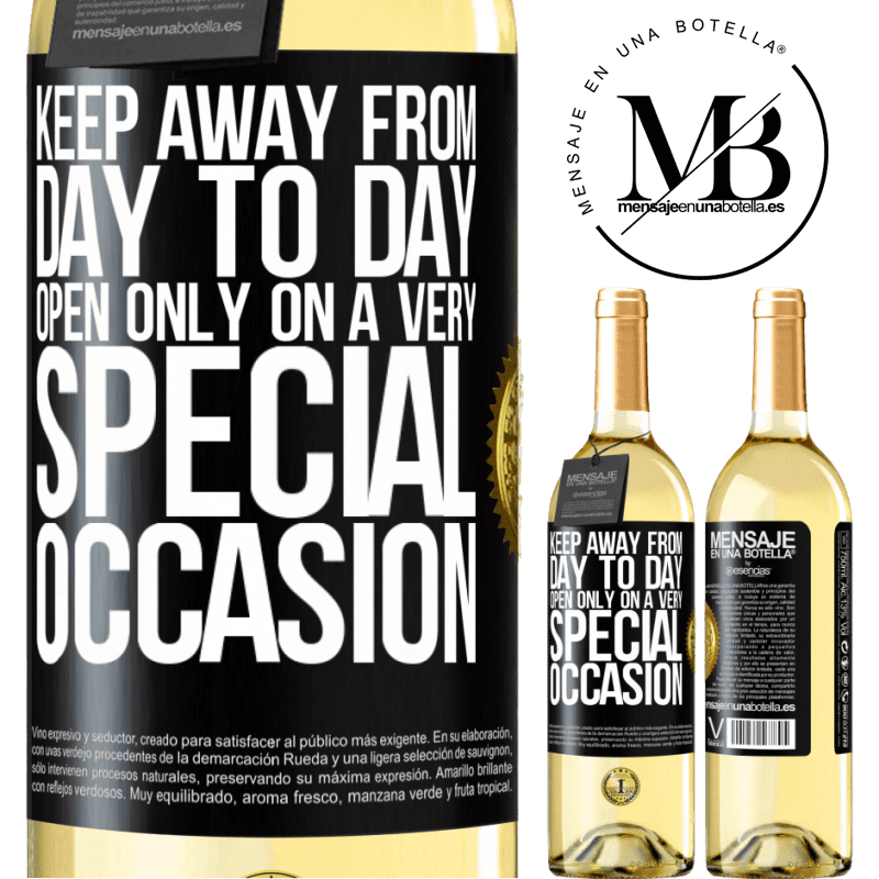 24,95 € Free Shipping | White Wine WHITE Edition Keep away from day to day. Open only on a very special occasion Black Label. Customizable label Young wine Harvest 2020 Verdejo