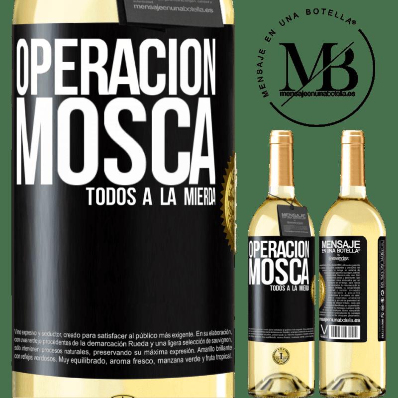 24,95 € Envoi gratuit   Vin blanc Édition WHITE Opération voler ... tout baiser Étiquette Noire. Étiquette personnalisable Vin jeune Récolte 2020 Verdejo