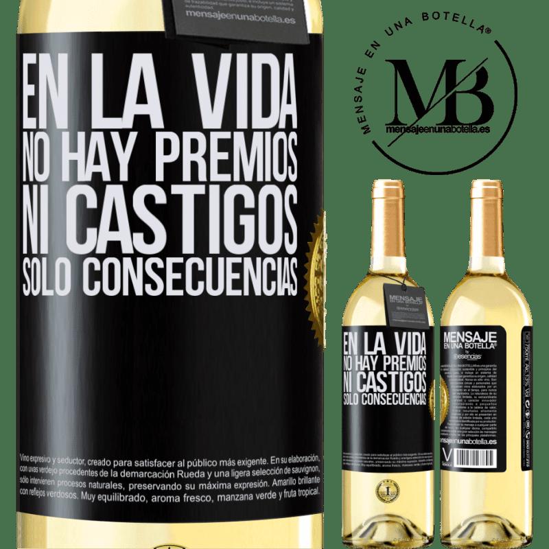 24,95 € Envoi gratuit   Vin blanc Édition WHITE Dans la vie, il n'y a pas de prix ou de punitions. Conséquences uniquement Étiquette Noire. Étiquette personnalisable Vin jeune Récolte 2020 Verdejo