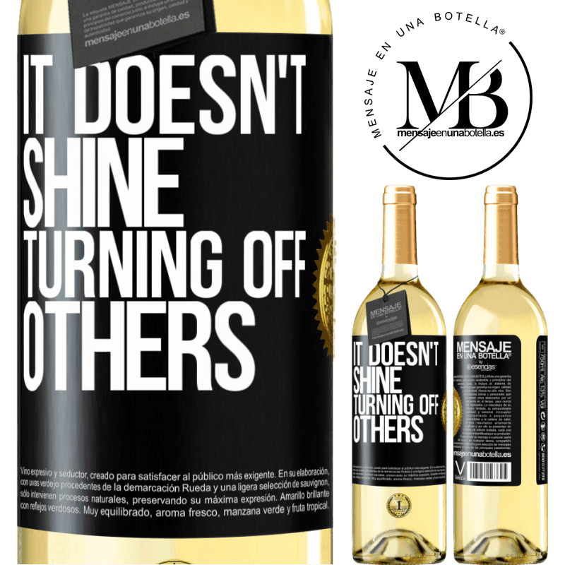24,95 € Free Shipping   White Wine WHITE Edition It doesn't shine turning off others Black Label. Customizable label Young wine Harvest 2020 Verdejo