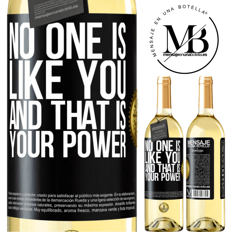 24,95 € Free Shipping | White Wine WHITE Edition No one is like you, and that is your power Black Label. Customizable label Young wine Harvest 2020 Verdejo