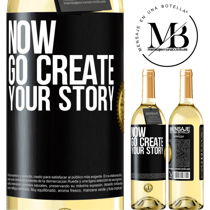 24,95 € Free Shipping   White Wine WHITE Edition Now, go create your story Black Label. Customizable label Young wine Harvest 2020 Verdejo