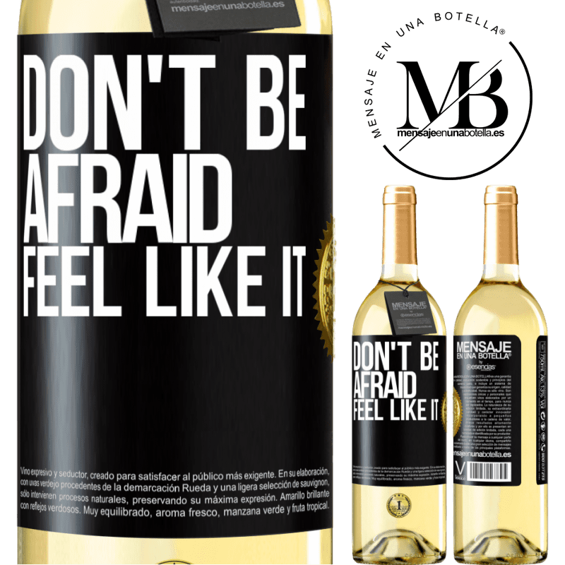 24,95 € Free Shipping | White Wine WHITE Edition Don't be afraid, feel like it Black Label. Customizable label Young wine Harvest 2020 Verdejo