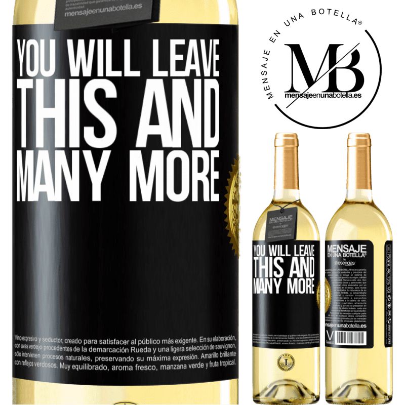 24,95 € Free Shipping   White Wine WHITE Edition You will leave this and many more Black Label. Customizable label Young wine Harvest 2020 Verdejo