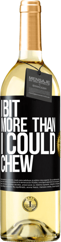24,95 € Free Shipping | White Wine WHITE Edition I bit more than I could chew Black Label. Customizable label Young wine Harvest 2020 Verdejo