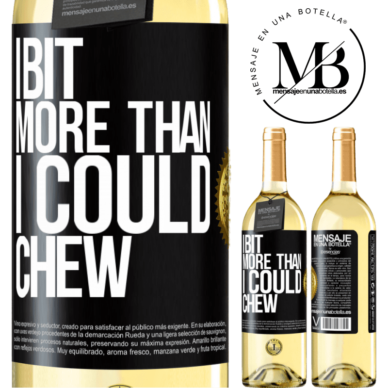 24,95 € Free Shipping   White Wine WHITE Edition I bit more than I could chew Black Label. Customizable label Young wine Harvest 2020 Verdejo