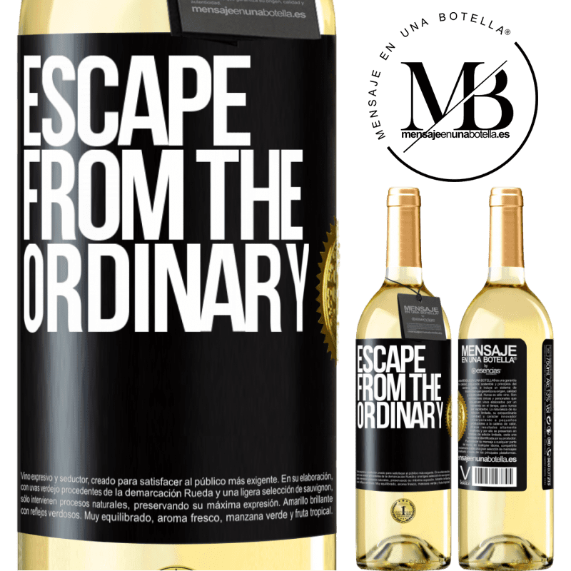 24,95 € Free Shipping | White Wine WHITE Edition Escape from the ordinary Black Label. Customizable label Young wine Harvest 2020 Verdejo