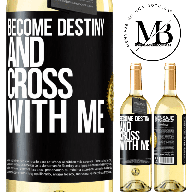 24,95 € Free Shipping | White Wine WHITE Edition Become destiny and cross with me Black Label. Customizable label Young wine Harvest 2020 Verdejo
