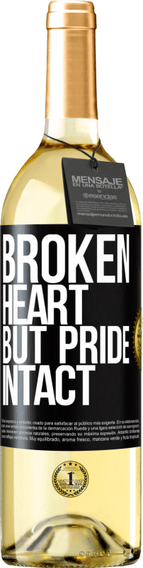 24,95 € Free Shipping   White Wine WHITE Edition The broken heart But pride intact Black Label. Customizable label Young wine Harvest 2020 Verdejo