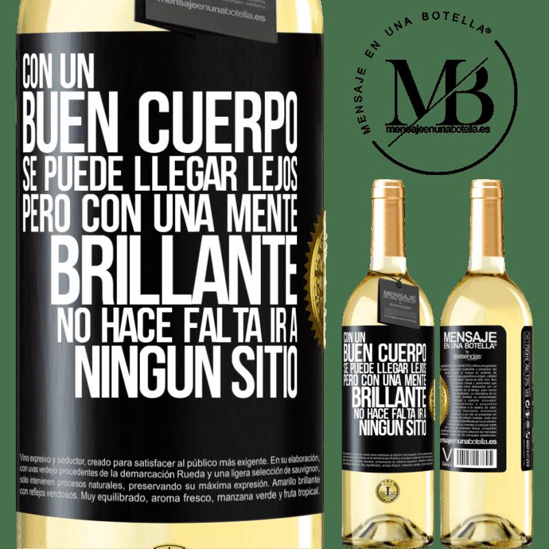 24,95 € Envoi gratuit   Vin blanc Édition WHITE Avec un bon corps, vous pouvez aller loin, mais avec un esprit brillant, vous n'avez pas besoin d'aller nulle part Étiquette Noire. Étiquette personnalisable Vin jeune Récolte 2020 Verdejo