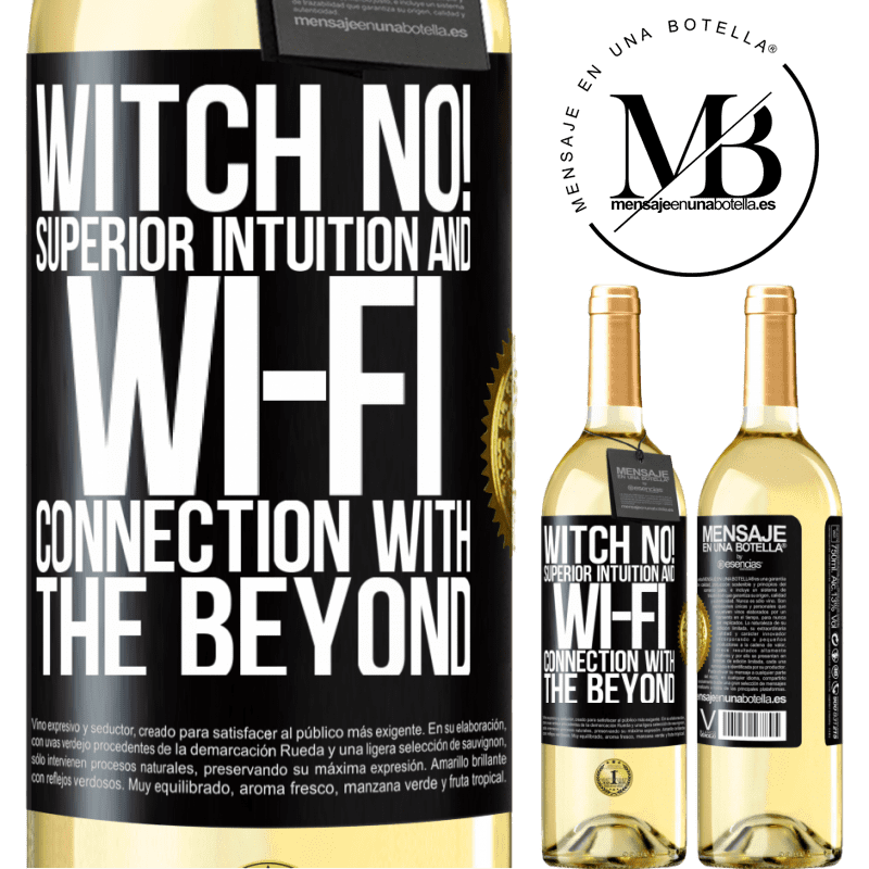 24,95 € Free Shipping   White Wine WHITE Edition witch no! Superior intuition and Wi-Fi connection with the beyond Black Label. Customizable label Young wine Harvest 2020 Verdejo