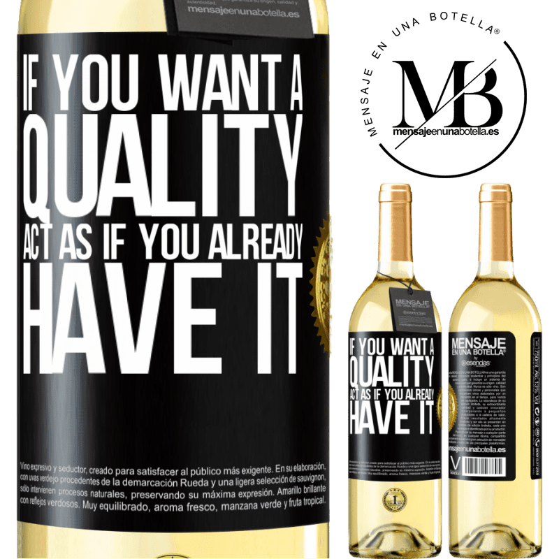 24,95 € Free Shipping   White Wine WHITE Edition If you want a quality, act as if you already had it Black Label. Customizable label Young wine Harvest 2020 Verdejo