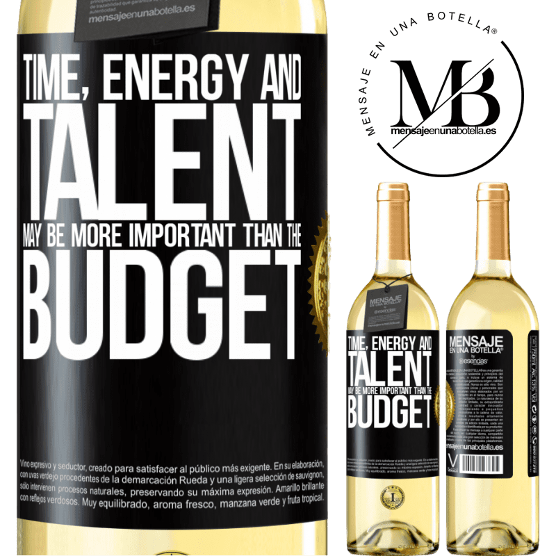 24,95 € Free Shipping   White Wine WHITE Edition Time, energy and talent may be more important than the budget Black Label. Customizable label Young wine Harvest 2020 Verdejo