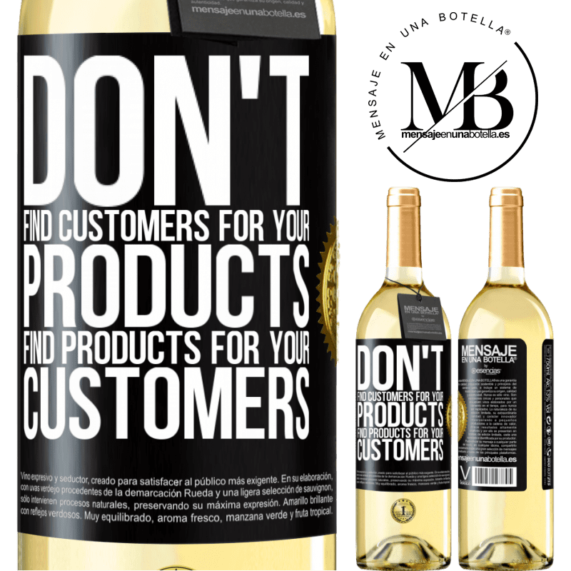 24,95 € Free Shipping | White Wine WHITE Edition Don't find customers for your products, find products for your customers Black Label. Customizable label Young wine Harvest 2020 Verdejo