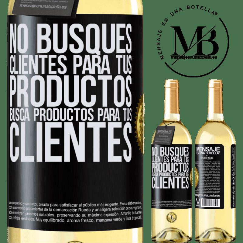 24,95 € Envoi gratuit | Vin blanc Édition WHITE Ne cherchez pas de clients pour vos produits, recherchez des produits pour vos clients Étiquette Noire. Étiquette personnalisable Vin jeune Récolte 2020 Verdejo
