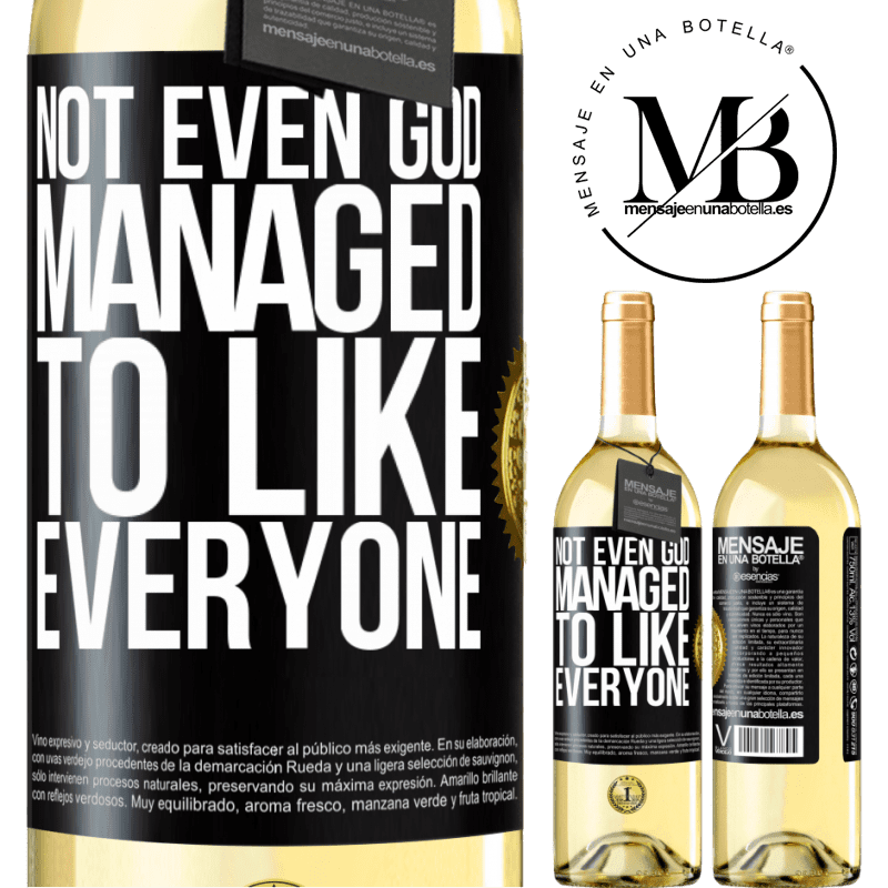 24,95 € Free Shipping   White Wine WHITE Edition Not even God managed to like everyone Black Label. Customizable label Young wine Harvest 2020 Verdejo