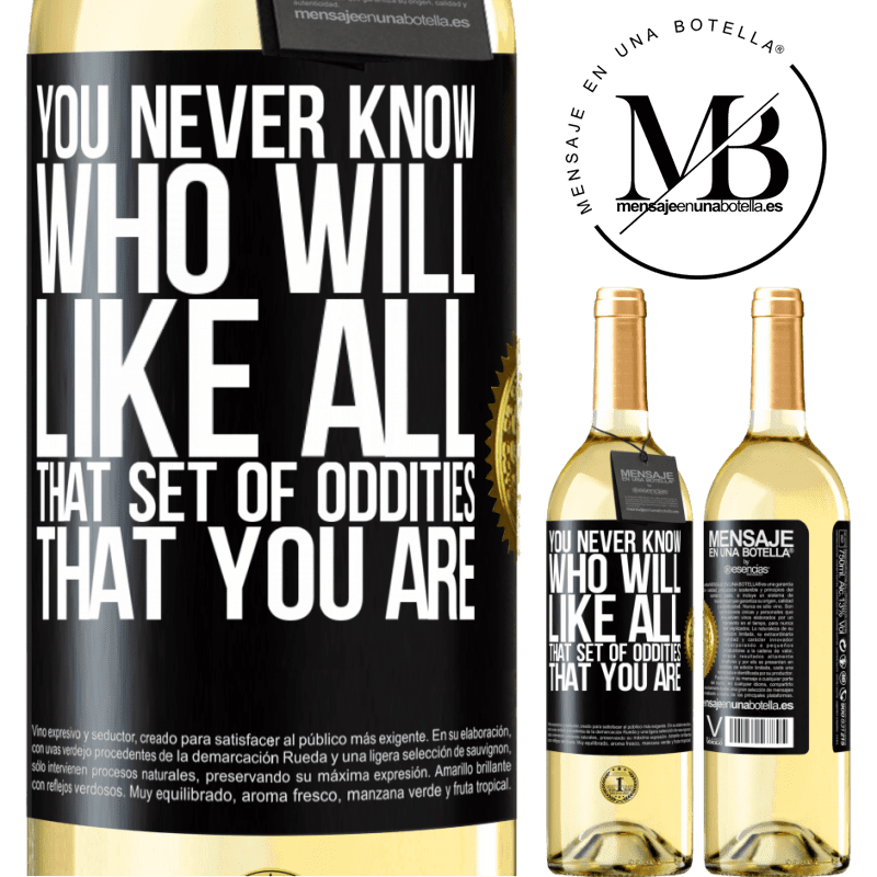 24,95 € Free Shipping   White Wine WHITE Edition You never know who will like all that set of oddities that you are Black Label. Customizable label Young wine Harvest 2020 Verdejo