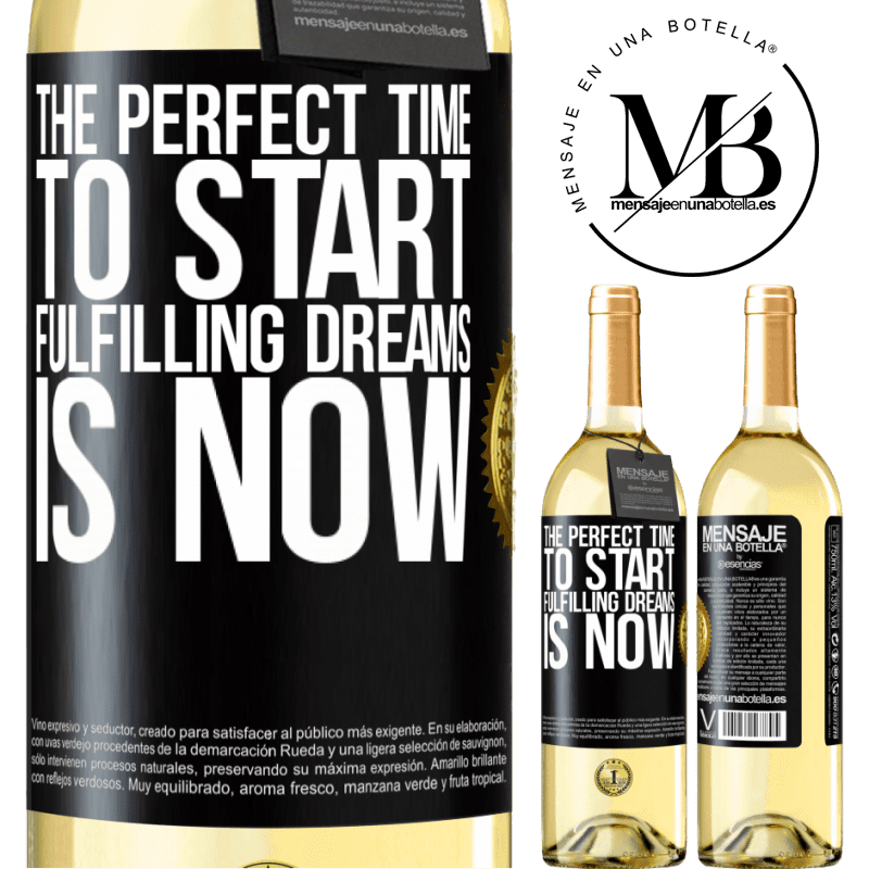 24,95 € Free Shipping | White Wine WHITE Edition The perfect time to start fulfilling dreams is now Black Label. Customizable label Young wine Harvest 2020 Verdejo