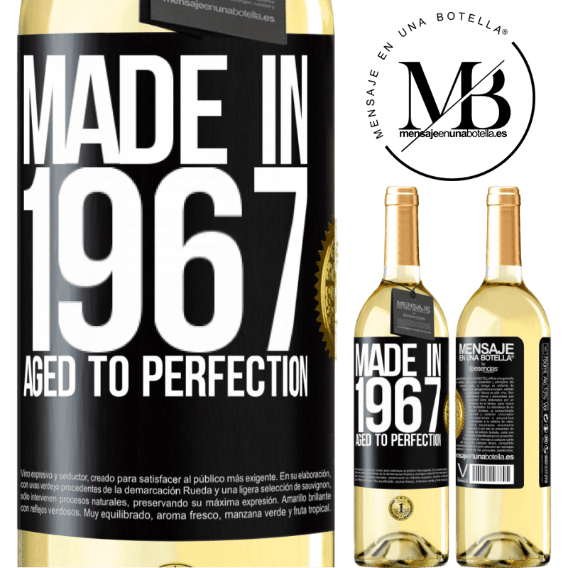 24,95 € Free Shipping | White Wine WHITE Edition Made in 1967. Aged to perfection Black Label. Customizable label Young wine Harvest 2020 Verdejo