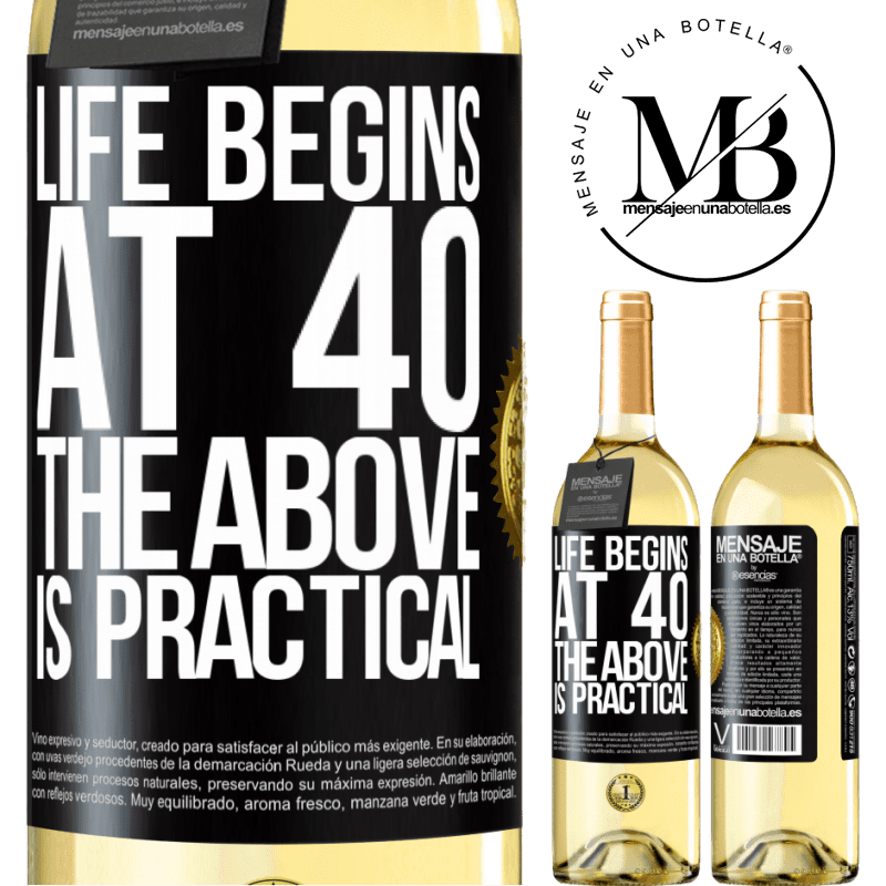 24,95 € Free Shipping | White Wine WHITE Edition Life begins at 40. The above is practical Black Label. Customizable label Young wine Harvest 2020 Verdejo