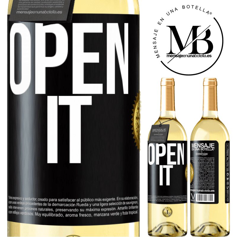 24,95 € Free Shipping | White Wine WHITE Edition Open it Black Label. Customizable label Young wine Harvest 2020 Verdejo