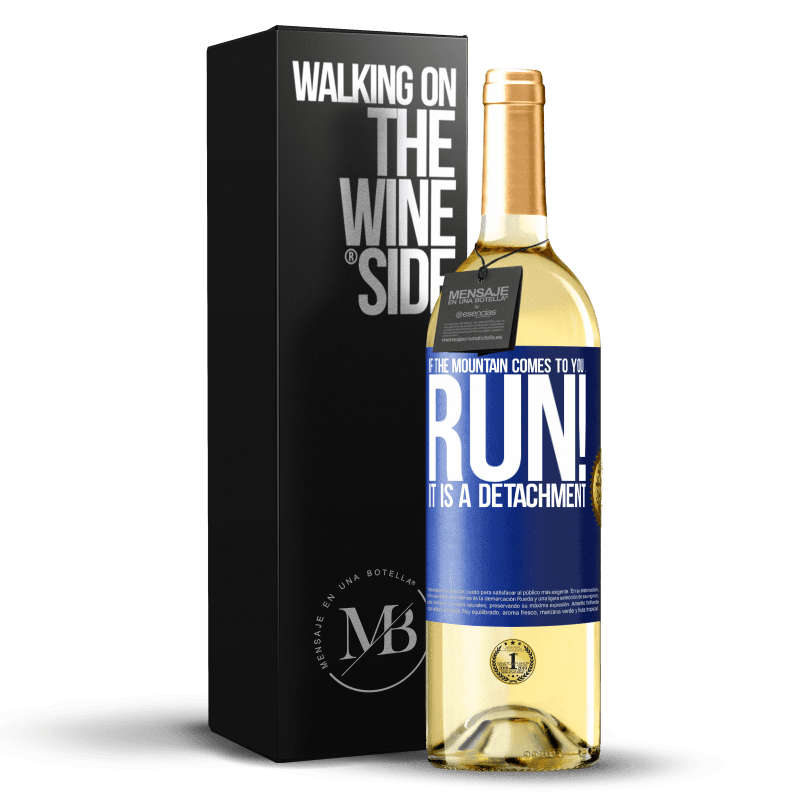24,95 € Free Shipping | White Wine WHITE Edition If the mountain comes to you ... Run! It is a detachment Blue Label. Customizable label Young wine Harvest 2020 Verdejo